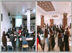 왼쪽 긴급복지 신고의무자 교육 오른쪽 송년회